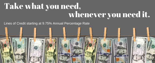 Take what you need, whenever you need it. LOC Starts at 9.75% APR.